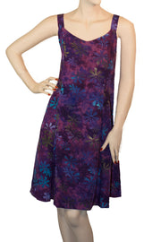 Sun Dress batik Dress cruisewear purple