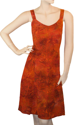 Sun Dress batik Dress cruisewear Red