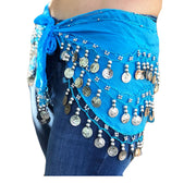 Zumba Coin Scarf Belly Dance Coin belt blue