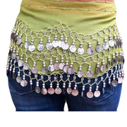 Zumba Coin Scarf Belly Dance Coin belt Back view