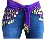 Zumba Coin Scarf Belly Dance Coin belt front view