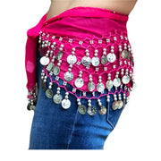 Zumba Coin Scarf Belly Dance Coin belt raspberry