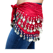 Zumba Coin Scarf Belly Dance Coin belt Red