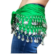 Zumba Coin Scarf Belly Dance Coin belt green