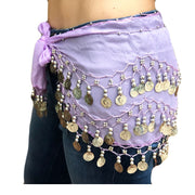 Zumba Coin Scarf Belly Dance Coin belt lilac