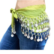 Zumba Coin Scarf Belly Dance Coin belt lime