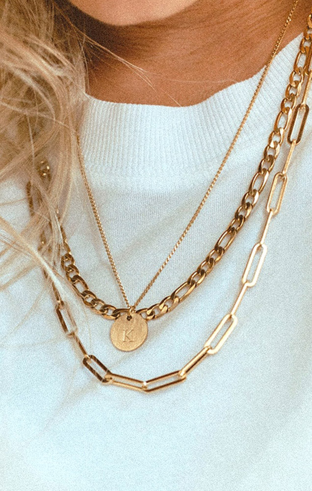 JJ + RR MONOGRAM NECKLACE