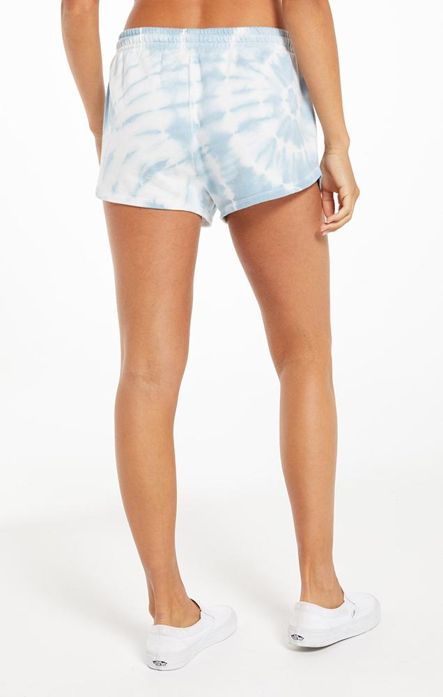 Z SUPPLY SADIE SPIRAL TIE-DYE SHORT IN BLUE AGAVE