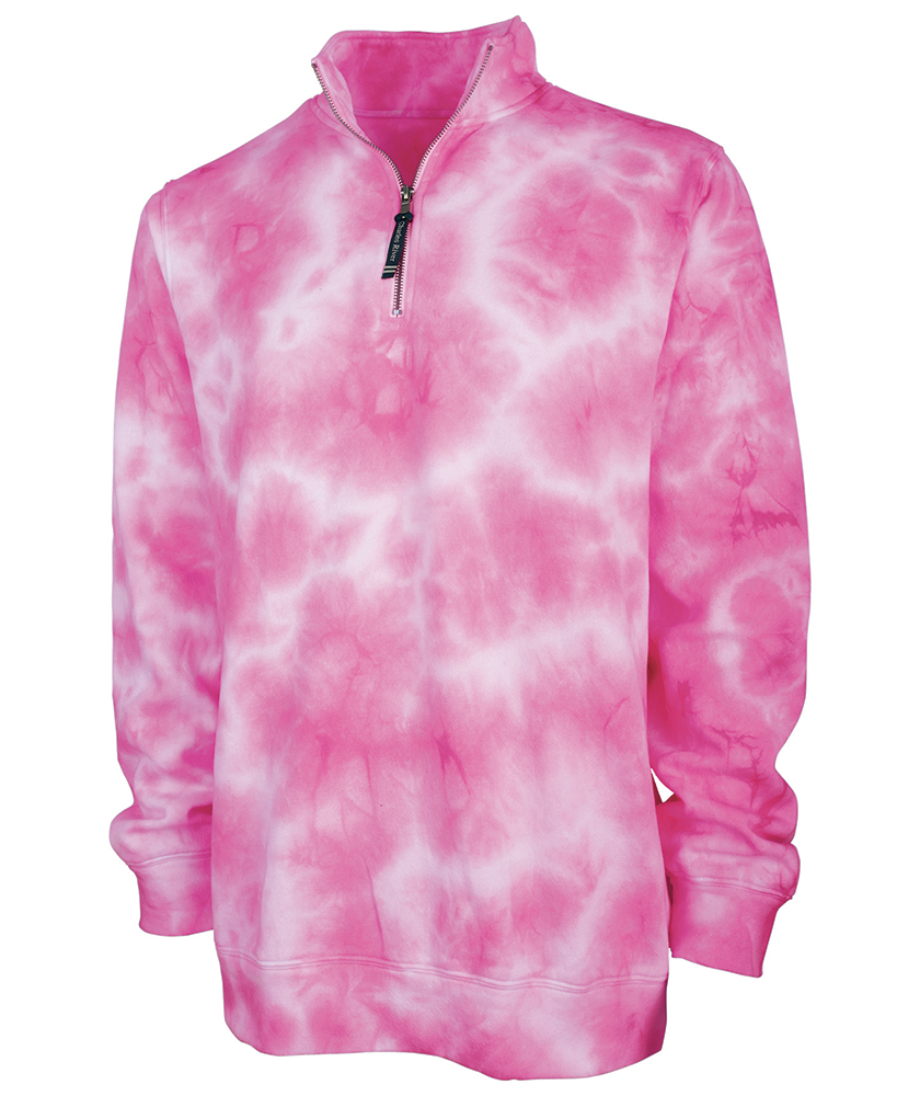 PINK Tie Dye Charles River Pullover