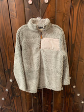 Load image into Gallery viewer, Gray Sherpa Pullover