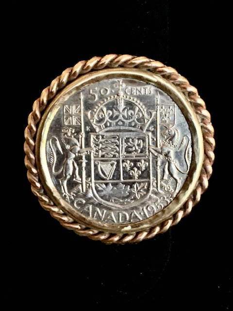 Canadian Coin Ring, Sterling, Brass