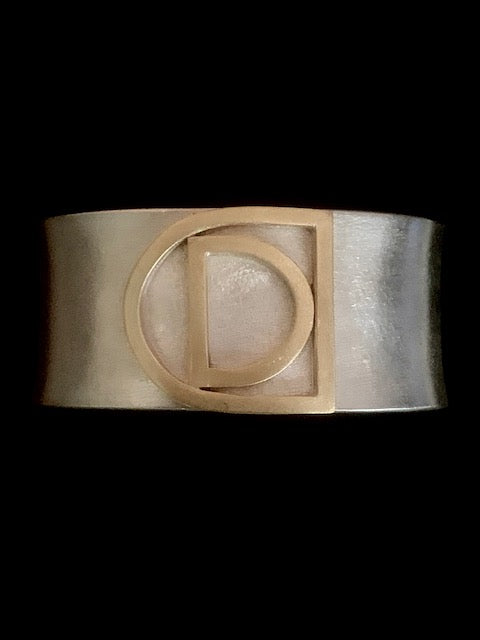 DC Collection Sterling Silver and Brass Cuff, size small/medium
