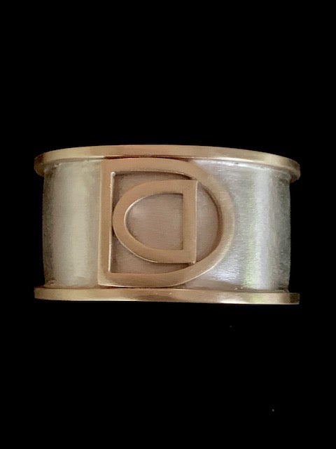 DC Collection Sterling Silver and Brass Cuff, extra small