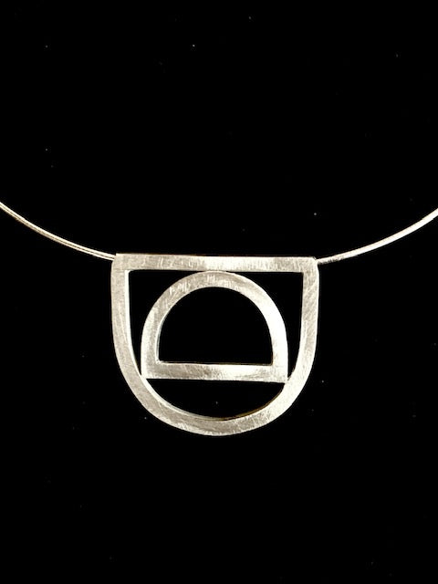 DC Collection Sterling Silver Pendant on Omega Chain