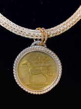 Load image into Gallery viewer, Irish Coin Pendant on Viking Knit Chain