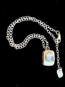 Moonstone Hollow Form Necklace