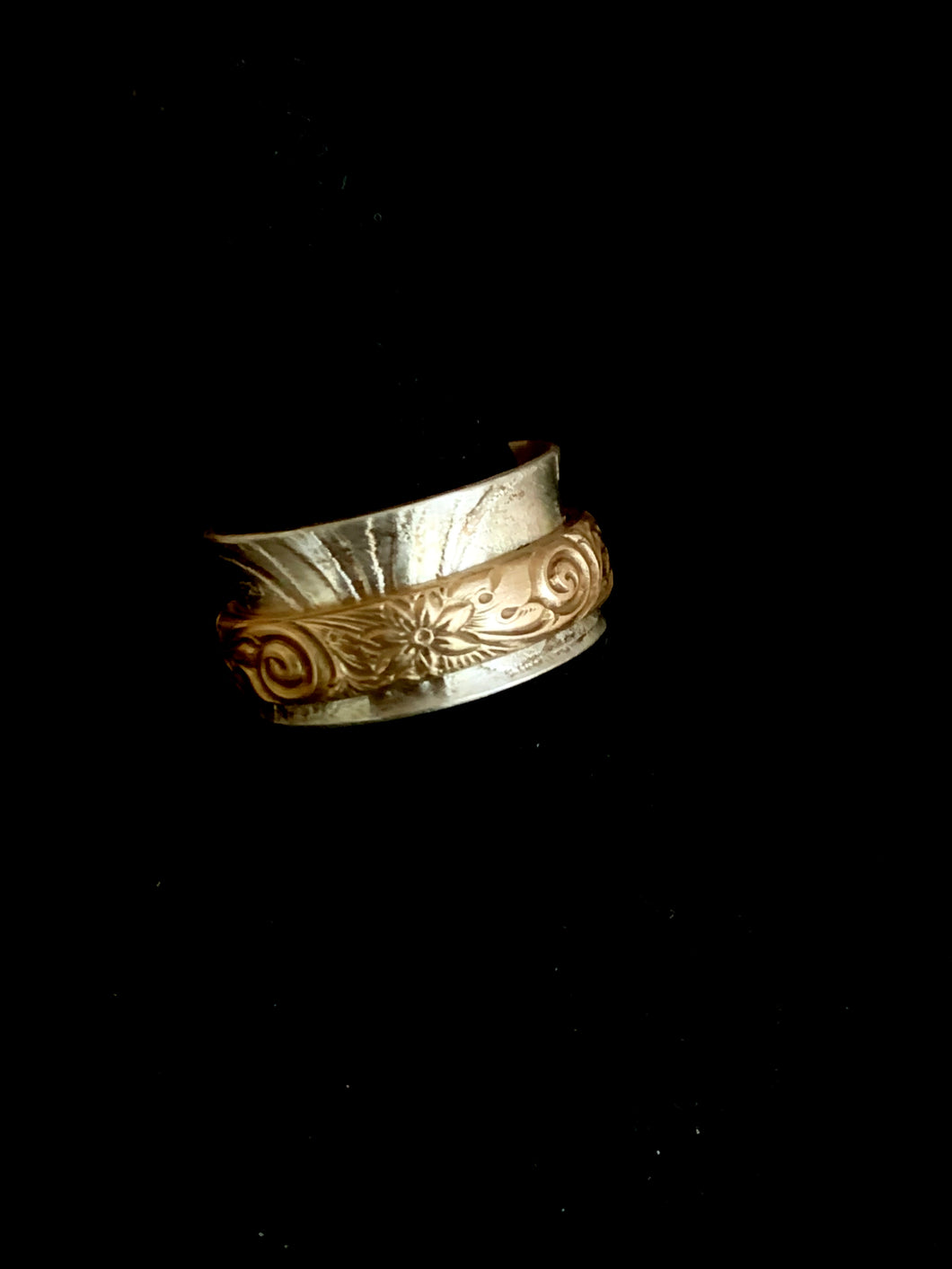 Spinner Ring with 14k gold