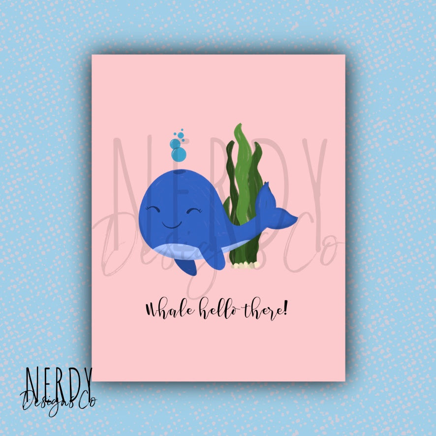Whale Hello There | Card