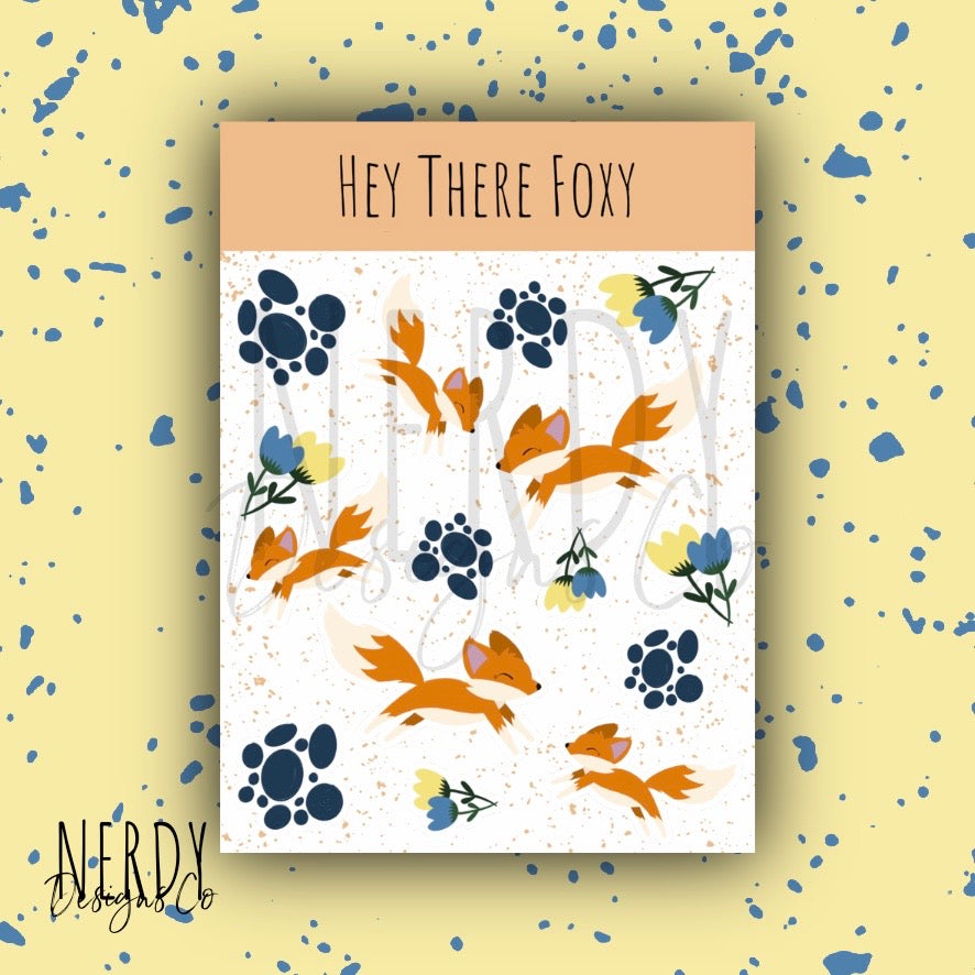 Hey There Foxy| Sticker Set