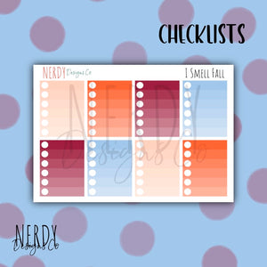 Autumn Check Lists | Planner Stickers