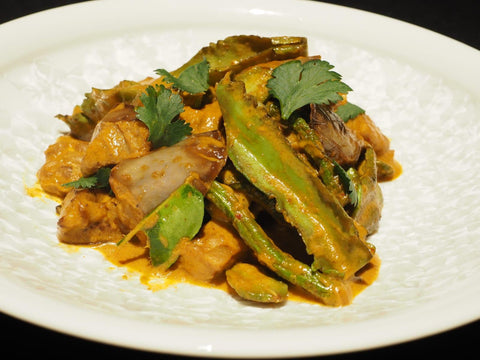 Mixed Curry Vegetable with Petai, Brinjal and Tempeh