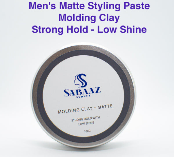 Men's Matte Styling Paste - 100g - Molding Clay Strong Hold-Low Shine