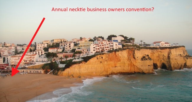 How to run a wedding necktie company from a beach in Portugal