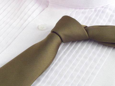 Antique Bronze color tie with tuxedo shirt