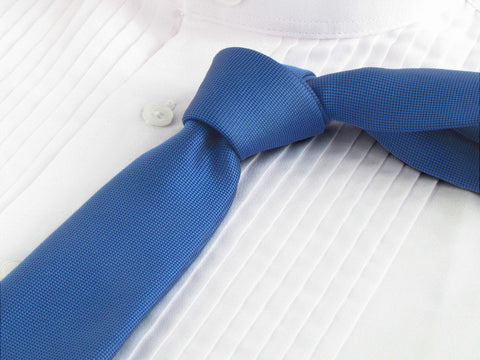 Classic Blue Necktie with Tuxedo Shirt