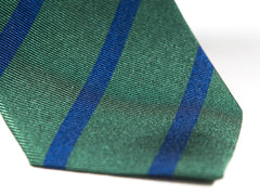 Spring green and blue striped necktie tip