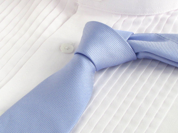 Deep Periwinkle tie with tuxedo shirt