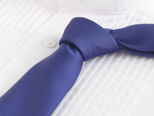 Navy Blue tie with tuxedo shirt