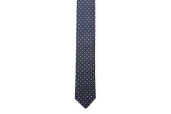 Oxford Blue Necktie with Polka Dots