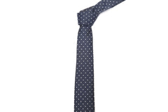 Tied Oxford Blue Polka Dot Necktie