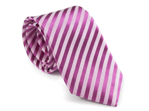 Dark and Light Pink Necktie Rolled Up