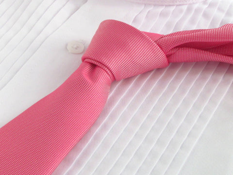 Virtual Pink tie with tuxedo shirt