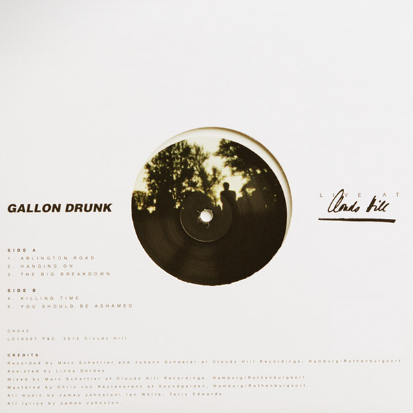 Gallon Drunk - Live At Clouds Hill - 10""