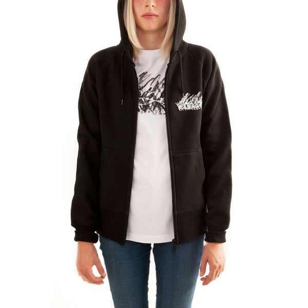 Clouds Hill - ECHO - Black Zipped Hoodie