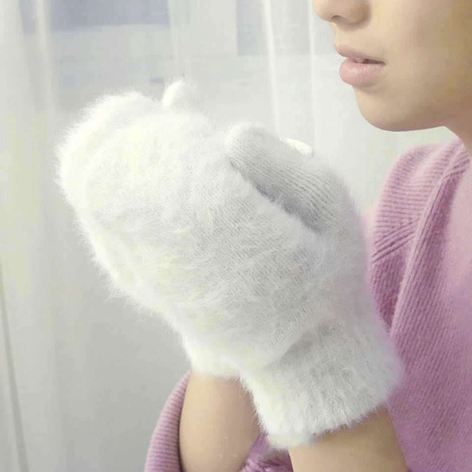 Woollen gloves women