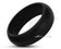 Black Silicone Ring With Rounded Edge - Matte Finish