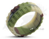 Track Silicone Ring With Rounded Edge - Camouflage
