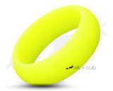 Yellow Silicone Ring With Rounded Edge - Matte Finish
