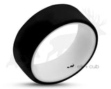 Two-Tone Silicone Ring With Rounded Edge - Black And White