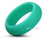 Aqua Silicone Ring With Rounded Edge - Matte Finish