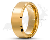 Gold Titanium Ring With Gold Inlay by Elk and Cub