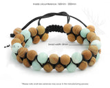 Natural and Lava Stone Macrame Bracelet by Elk and Cub