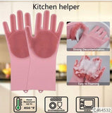 REUSABLE SILICONE CLEANING GLOVES