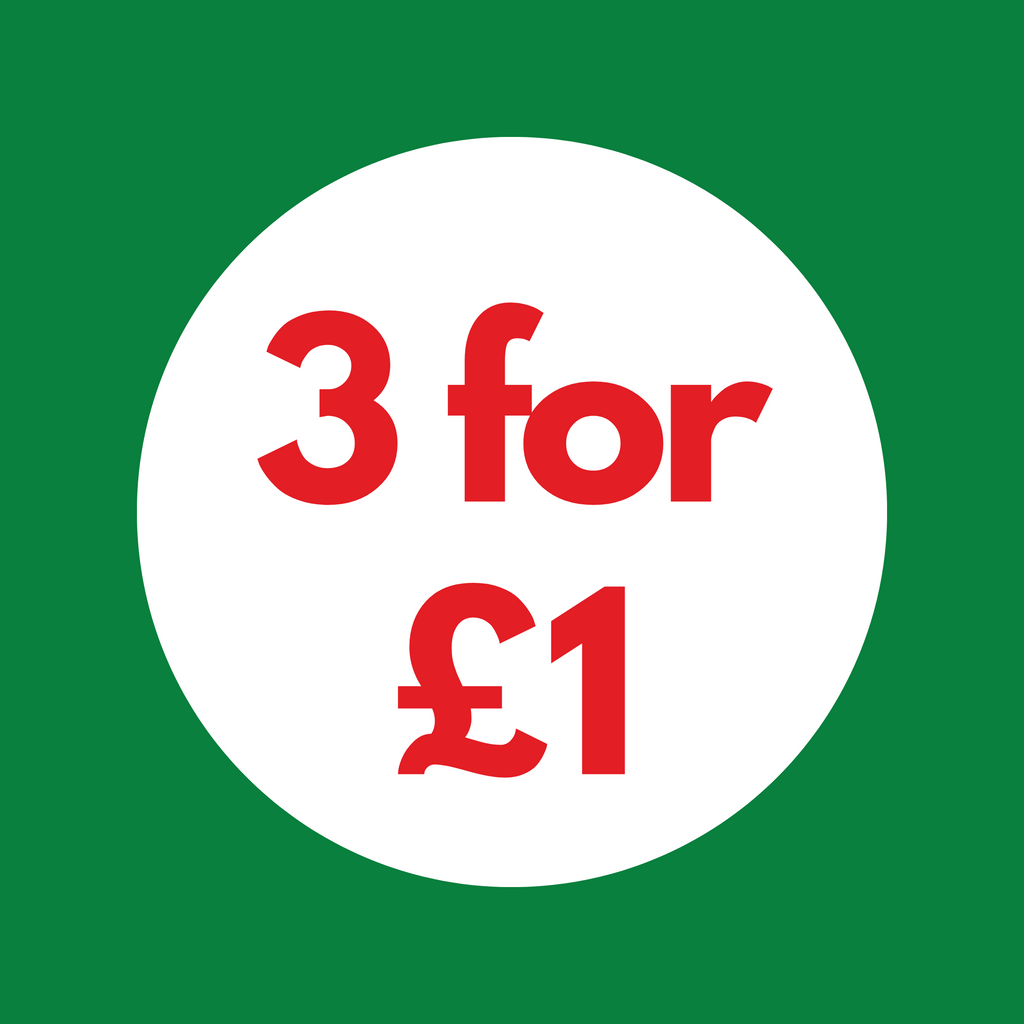 Any 3 for £1.00 (Applied at Checkout)