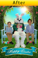 digital easter bunny photo