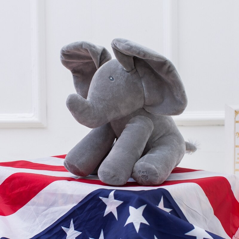 Peek a Boo Elephant (Stuffed Plush Doll) Educational Toy For Children